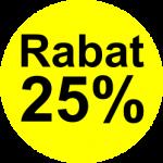 gul etiket 25 % rabat