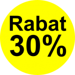 gul sort 30 % rabat