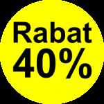 gul sort 40 % rabat etiket