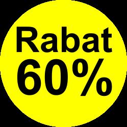 gul sort 60 % rabat etiket