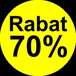 gul sort 70 % rabat etiket