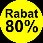 gul sort 80 % rabat etiket