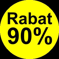 gul sort 90 % rabat etiket