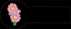 Navnemærke klistermærke med navn strygemærke med blomst