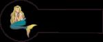 Navnemærke klistermærke med navn strygemærke med havfrue