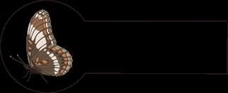 Navnemærke klistermærke med navn strygemærke med sommerfugl