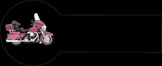 Navnemærke klistermærke med navn strygemærke med motorcykel