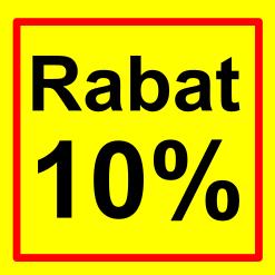 firkantet etiket rabat 10 %