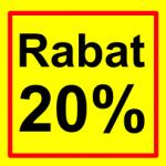 firkantet etiket rabat 20 %