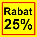 firkantet etiket rabat 25 %