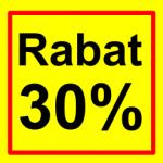 firkantet etiket rabat 30 %
