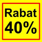 firkantet etiket rabat 40 %