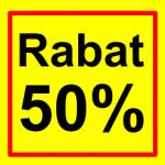 firkantet etiket rabat 50 %