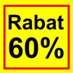 firkantet etiket rabat 60 %