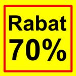 firkantet etiket rabat 70 %