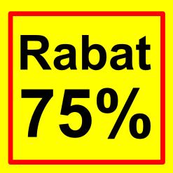 firkantet etiket rabat 75