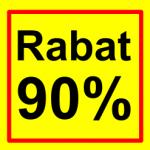 firkantet etiket rabat 90 %