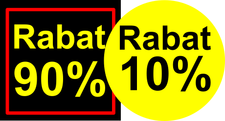 Rabatetiketter - rabatklistermærker