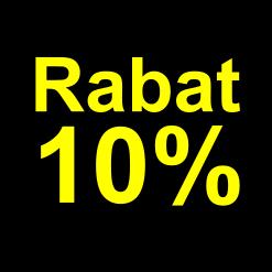 sort gul 10 % rabat etiket