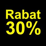sort gul 30 % rabat etiket