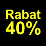 sort gul 40 % rabat etiket