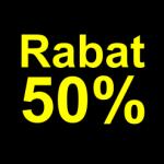 sort gul 50 % rabat etiket