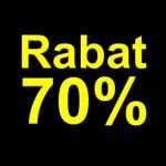 sort gul 70 % rabat etiket