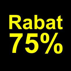 sort gul 75 % rabat etiket