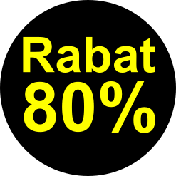 sort gul 80 % rabat etiket