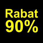 sort gul 90 % rabat etiket
