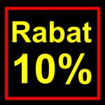 sort-gul rabat etiket klistermærke kvadratisk 10 procent