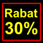 sort-gul rabat etiket klistermærke kvadratisk 30 %