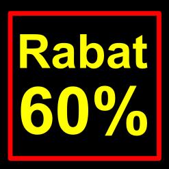 sort-gul rabat etiket klistermærke kvadratisk 60 %