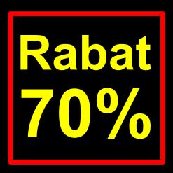 sort-gul rabat etiket klistermærke kvadratisk 70 %