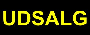 Udsalgsetiket sort - gul med runde hjørner