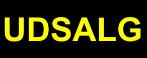Udsalgsetiket sort med gul skrift